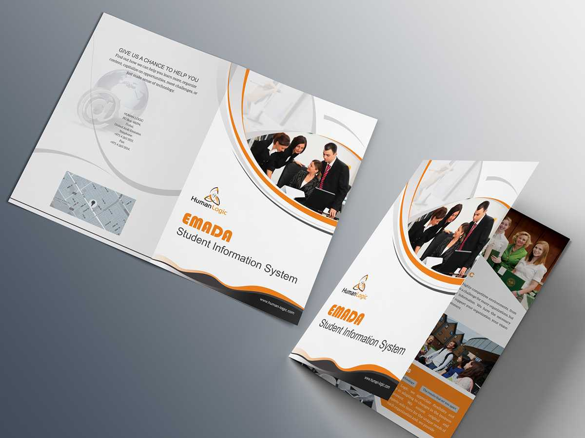 Two Fold Brochure Template Psd - Atlantaauctionco For Two Fold Brochure Template Psd