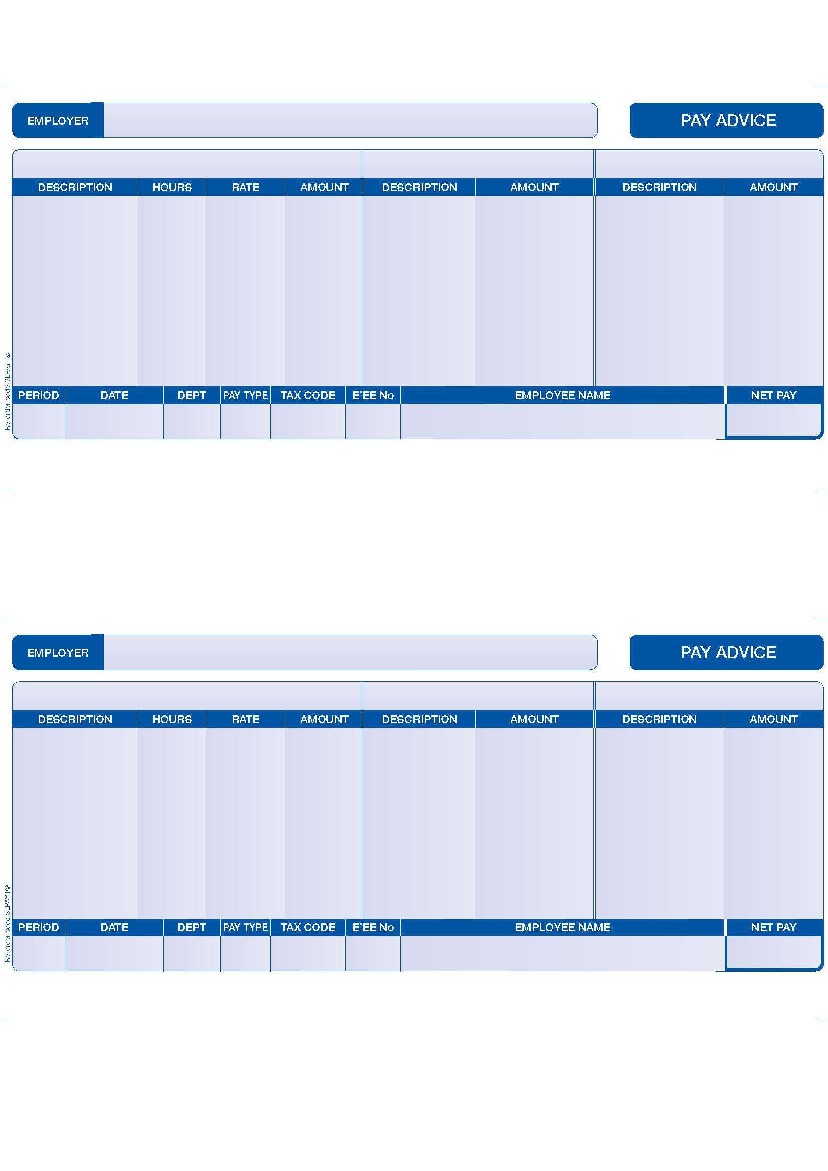Uk Payslip Template throughout Blank Payslip Template