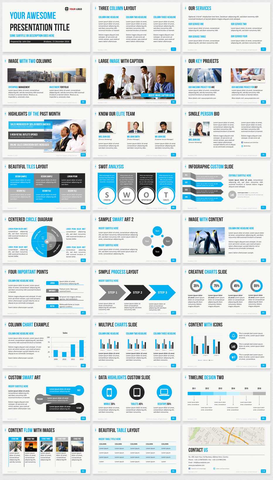 Ultimate Professional Business Powerpoint Template - 1650+ regarding Powerpoint Photo Slideshow Template