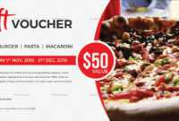 Unique Gift Voucher Template within Pizza Gift Certificate Template