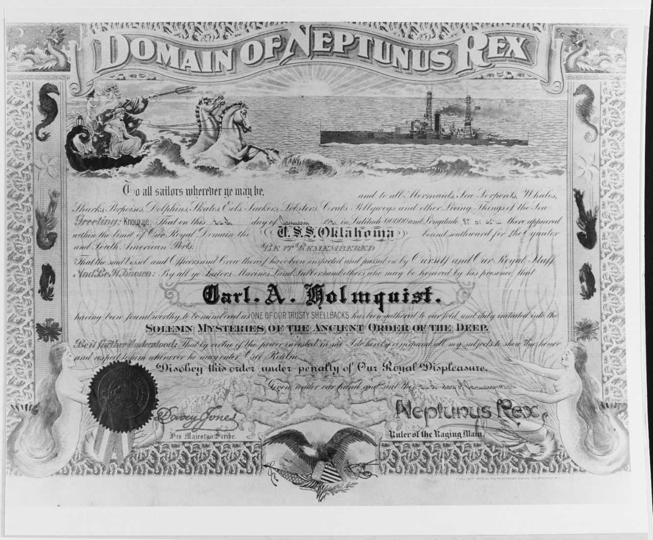 Unofficial Navy Certificates For Crossing The Line Inside Crossing The Line Certificate Template