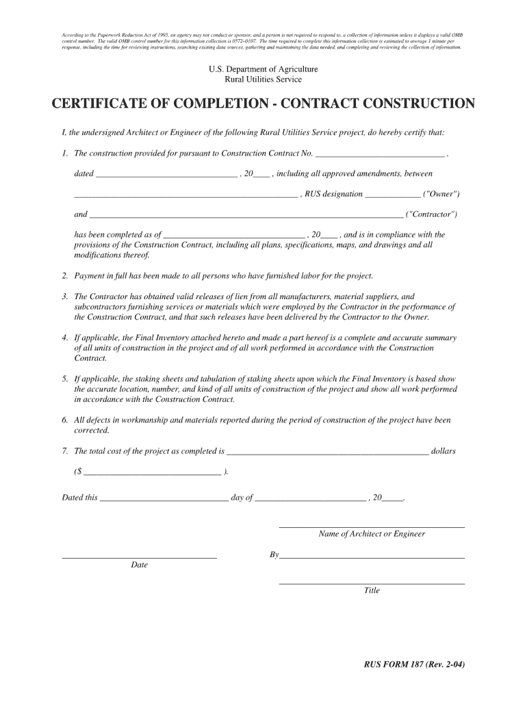 Usda Direct Constrution Loan Draw Form - Fill Online intended for Certificate Of Completion Construction Templates