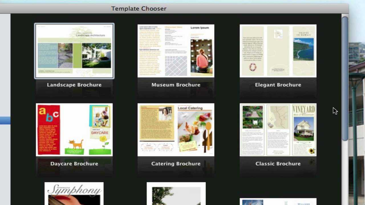 Use Pages On Macs To Create A Pamphlet (View Description) Pertaining To Mac Brochure Templates