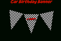 Use This Free Printable Race Car Birthday Banner And with Cars Birthday Banner Template