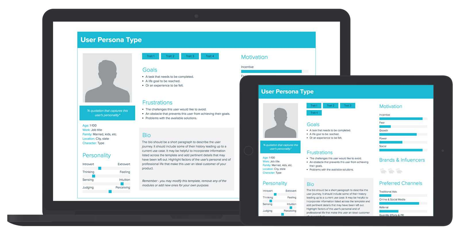 User Persona Template And Examples | Xtensio throughout Bio Card Template