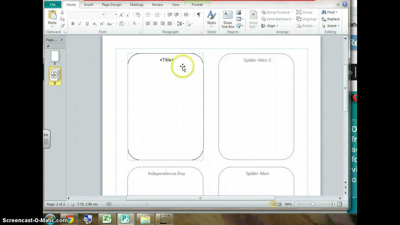 Using Mail Merge To Create Top Trump Cards inside Top Trump Card Template