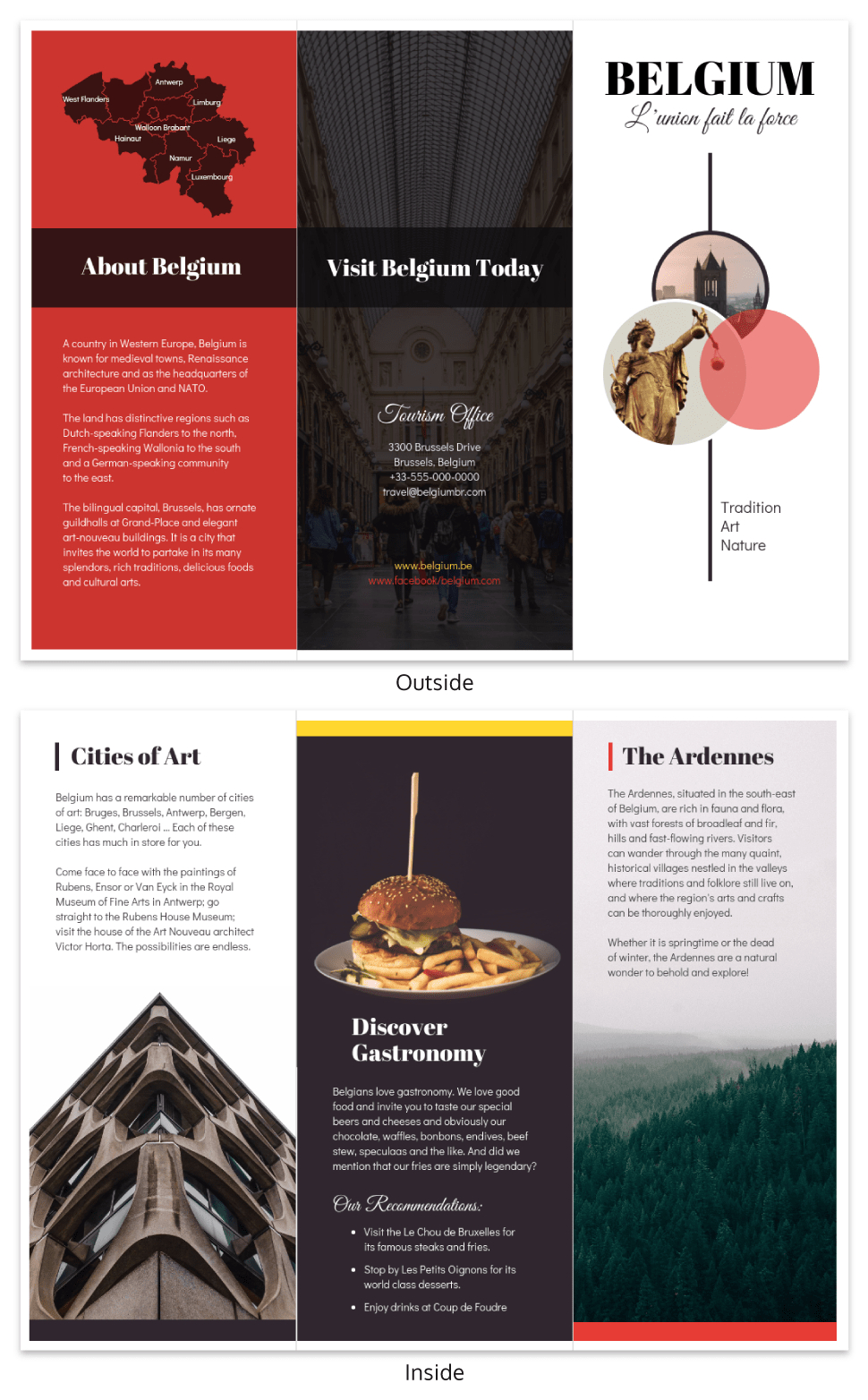 Vacation Travel Brochure Template In Country Brochure Template