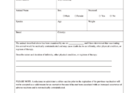 Vaccination Certificate Format – Fill Online, Printable within Rabies Vaccine Certificate Template