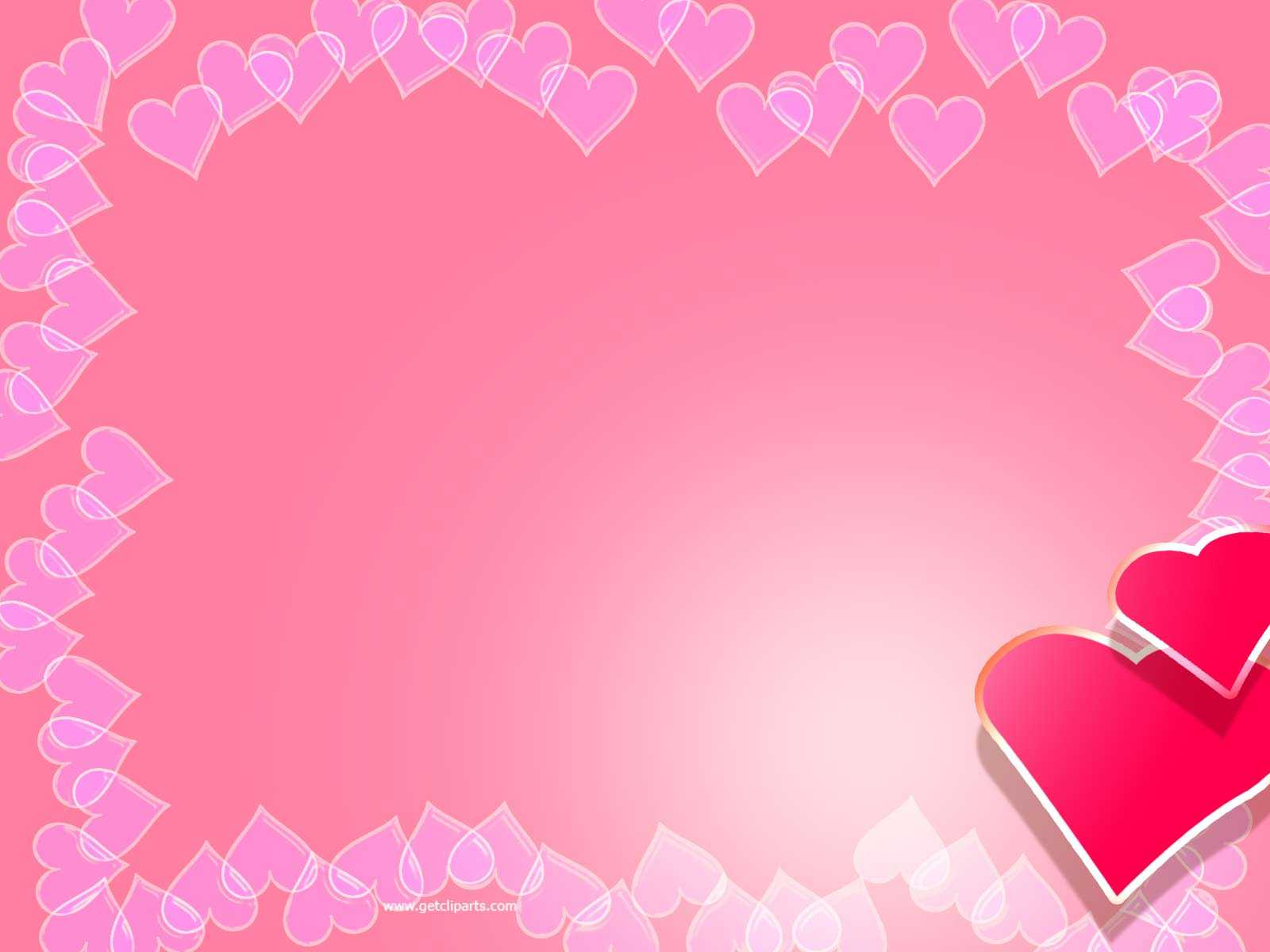 Valentine Backgrounds For Powerpoint - Border And Frame Ppt throughout Valentine Powerpoint Templates Free