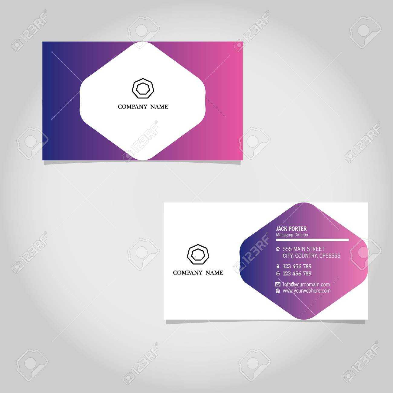 Vector Business Card Template Design Adobe Illustrator Throughout Adobe Illustrator Card Template