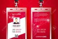 Vector Illustration Red Corporate Id Card Design Template Set throughout Company Id Card Design Template