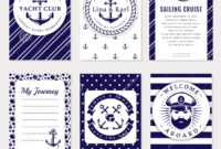 Vector Sea And Nautical Card And Banners. Stock Vector Pertaining To Nautical Banner Template