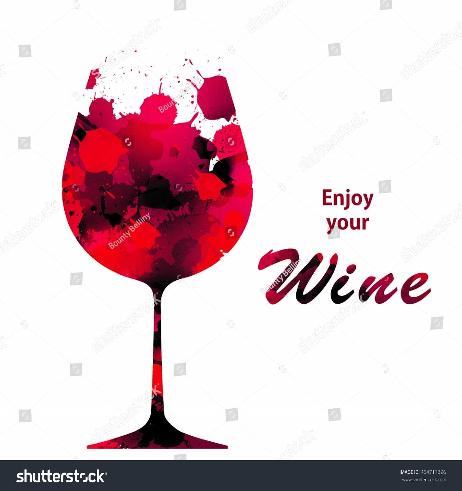 Vector Wine Background Brochure Template Your Stock Vector inside Wine Brochure Template