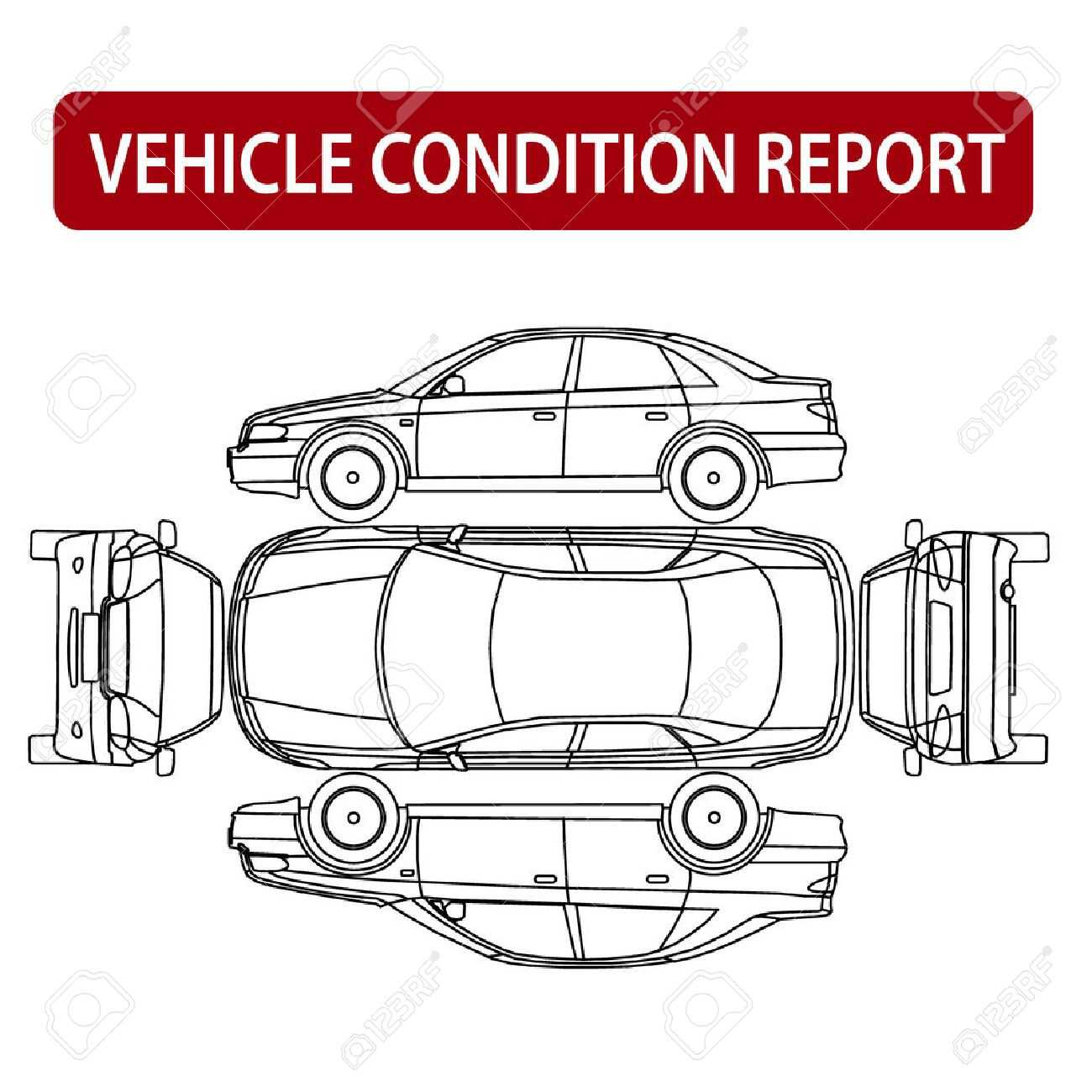 Vehicle Condition Report Car Checklist, Auto Damage Inspection with regard to Car Damage Report Template