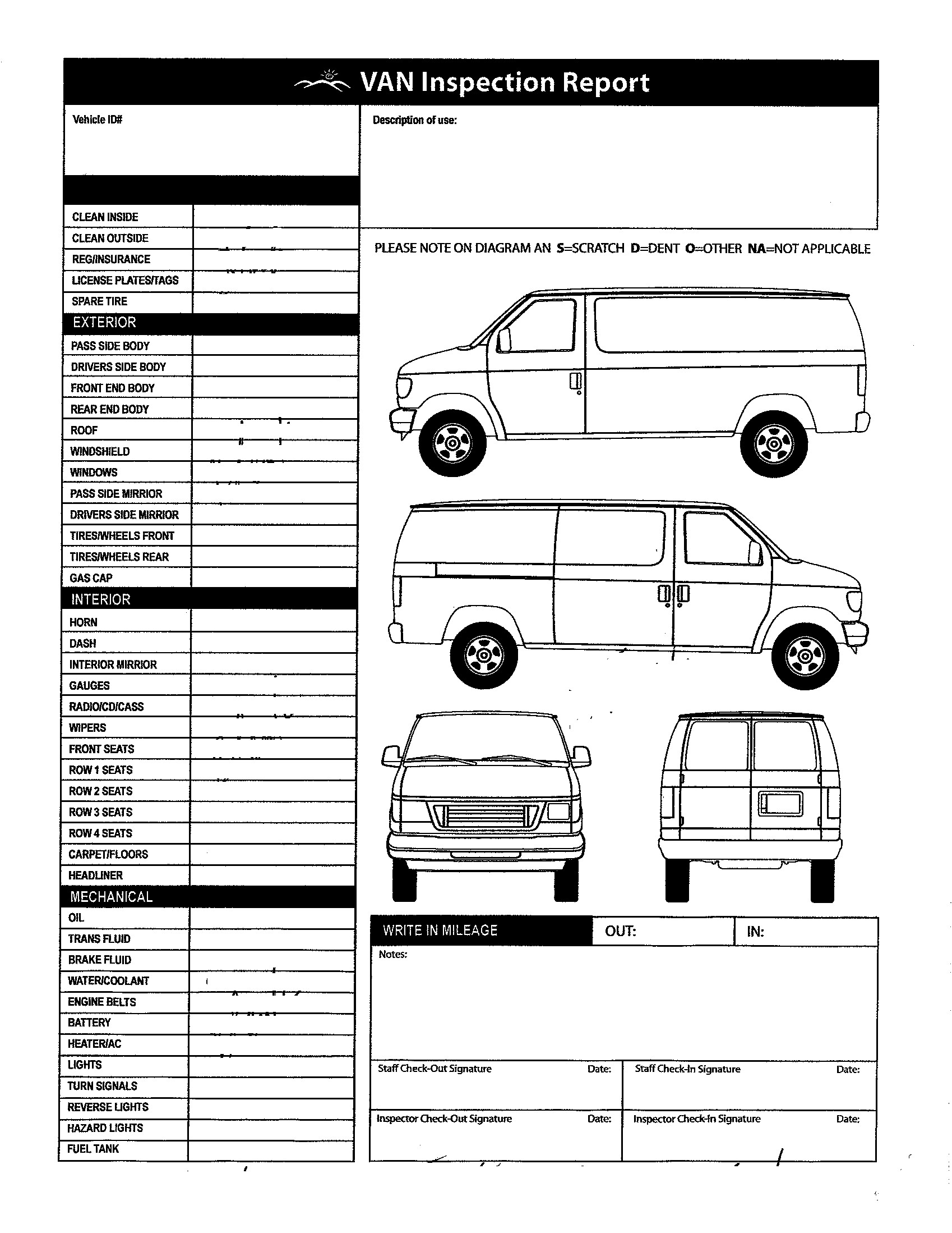 Vehicle Condition Report Template | Dattstar with Car Damage Report Template
