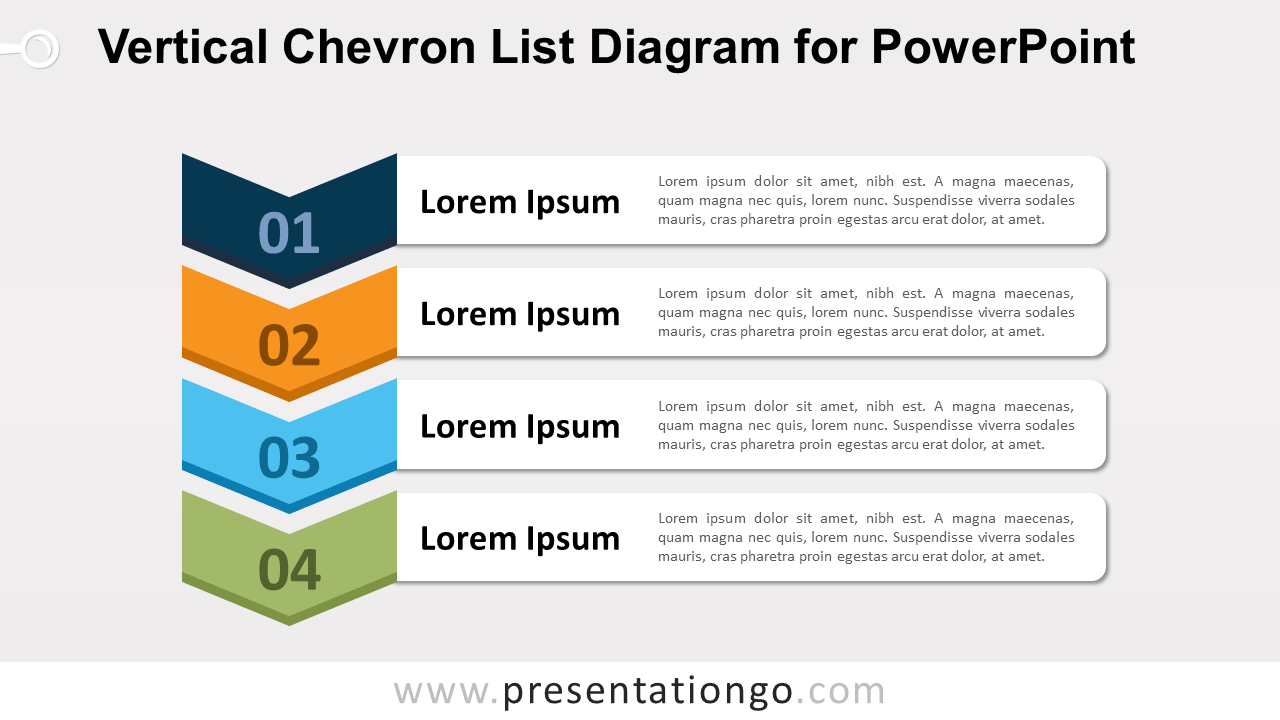 Vertical Chevron List For Powerpoint - Presentationgo with Powerpoint Chevron Template