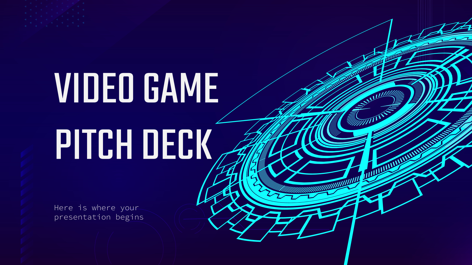 Video Game Pitch Deck - Free Presentation Template For with Powerpoint Template Games For Education