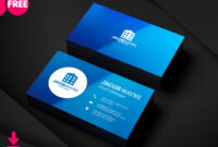 Visiting Card Psd Template Business Design Templates Free regarding Visiting Card Templates For Photoshop