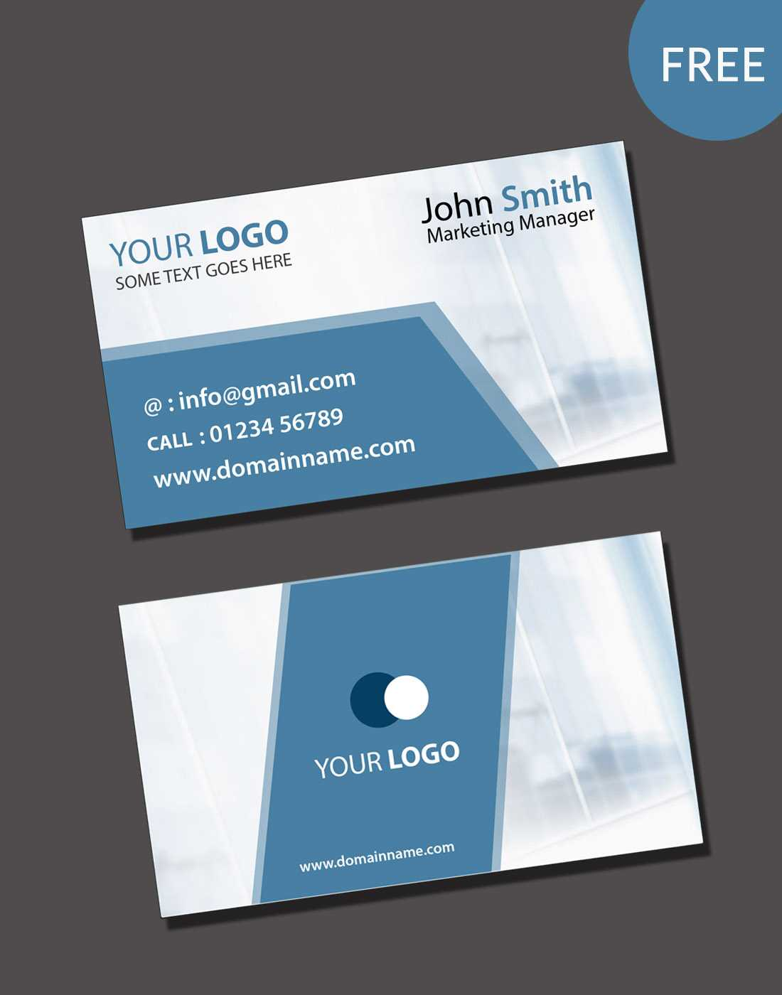 Visiting Card Psd Template Free Download Pertaining To Visiting Card Psd Template Free Download