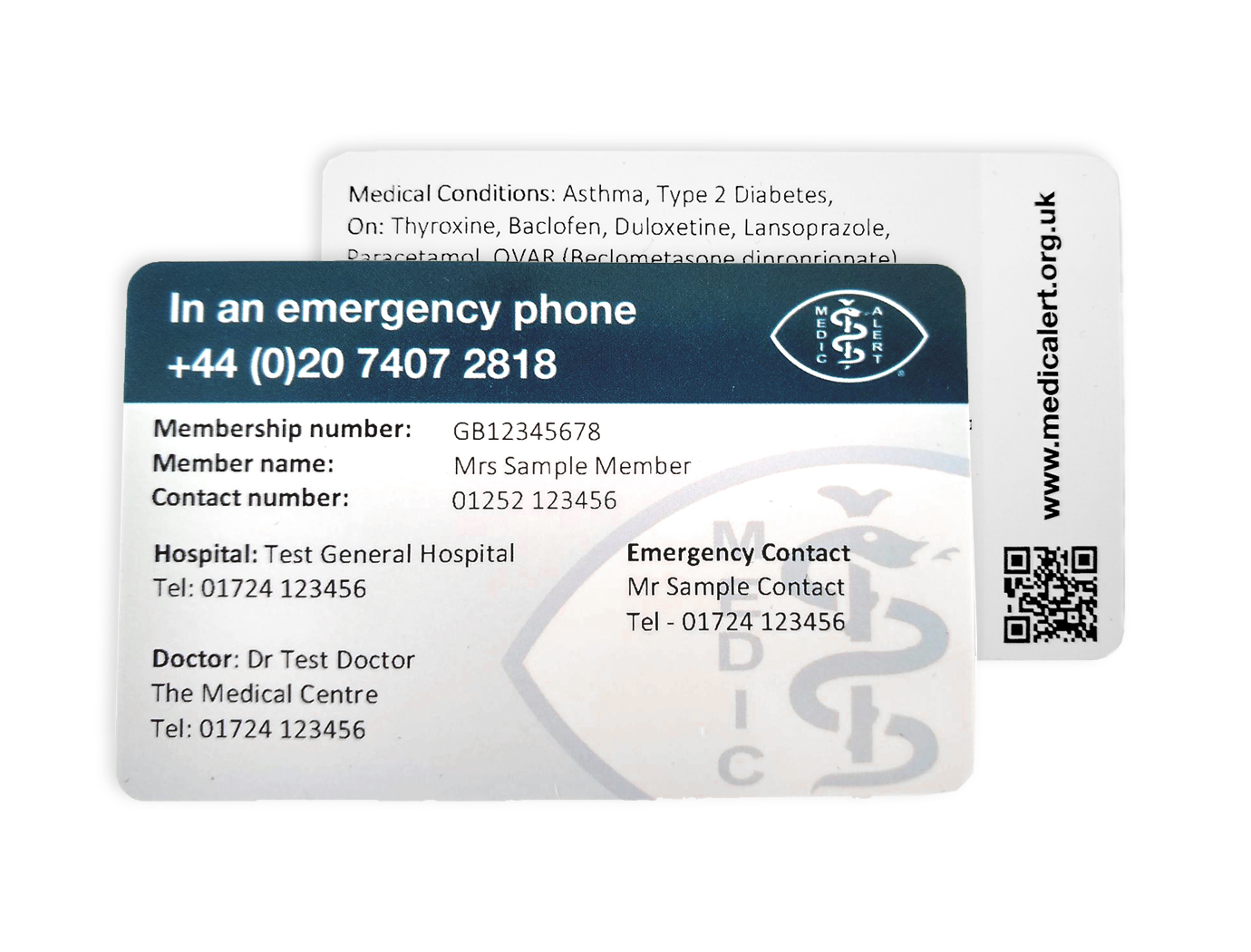 Wallet Card throughout Medical Alert Wallet Card Template