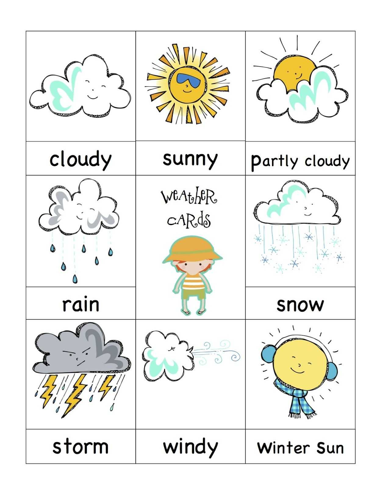 Weather Cards- Would Be Fun To Have A 'weather Man/girl with regard to Kids Weather Report Template