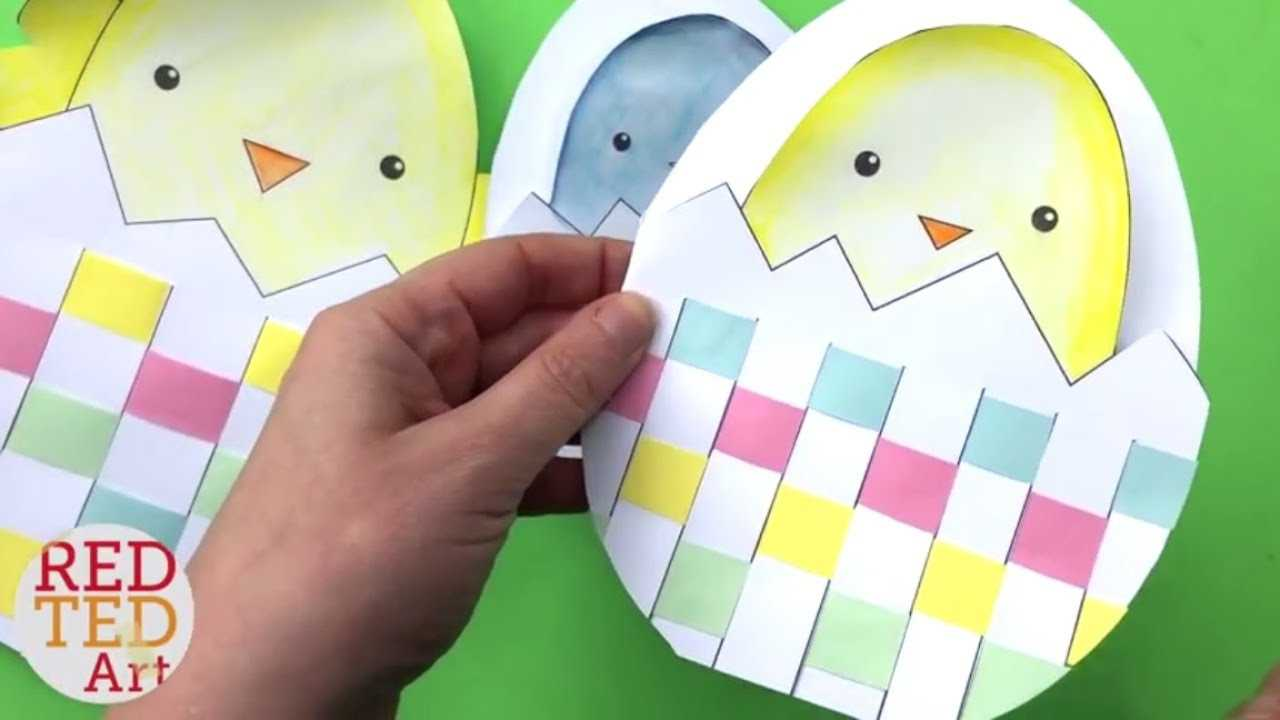 Weaving Chick Cards With Template - Easy Easter Card Diy Ideas Pertaining To Easter Chick Card Template
