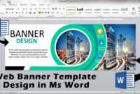 Web Ad Banner Template Design In Ms Word || How To Make Ad Banner Design In  Ms Word within Microsoft Word Banner Template