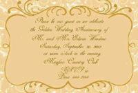 Wedding Certificate Template   50Th Wedding Anniversary in Anniversary Certificate Template Free