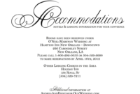 Wedding Hotel Block Wording The Best Picture In Invitation throughout Wedding Hotel Information Card Template