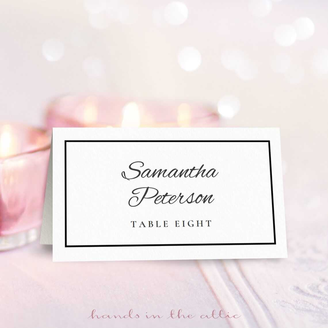 Wedding Place Card Template | Free Place Card Template With Regard To Table Name Card Template