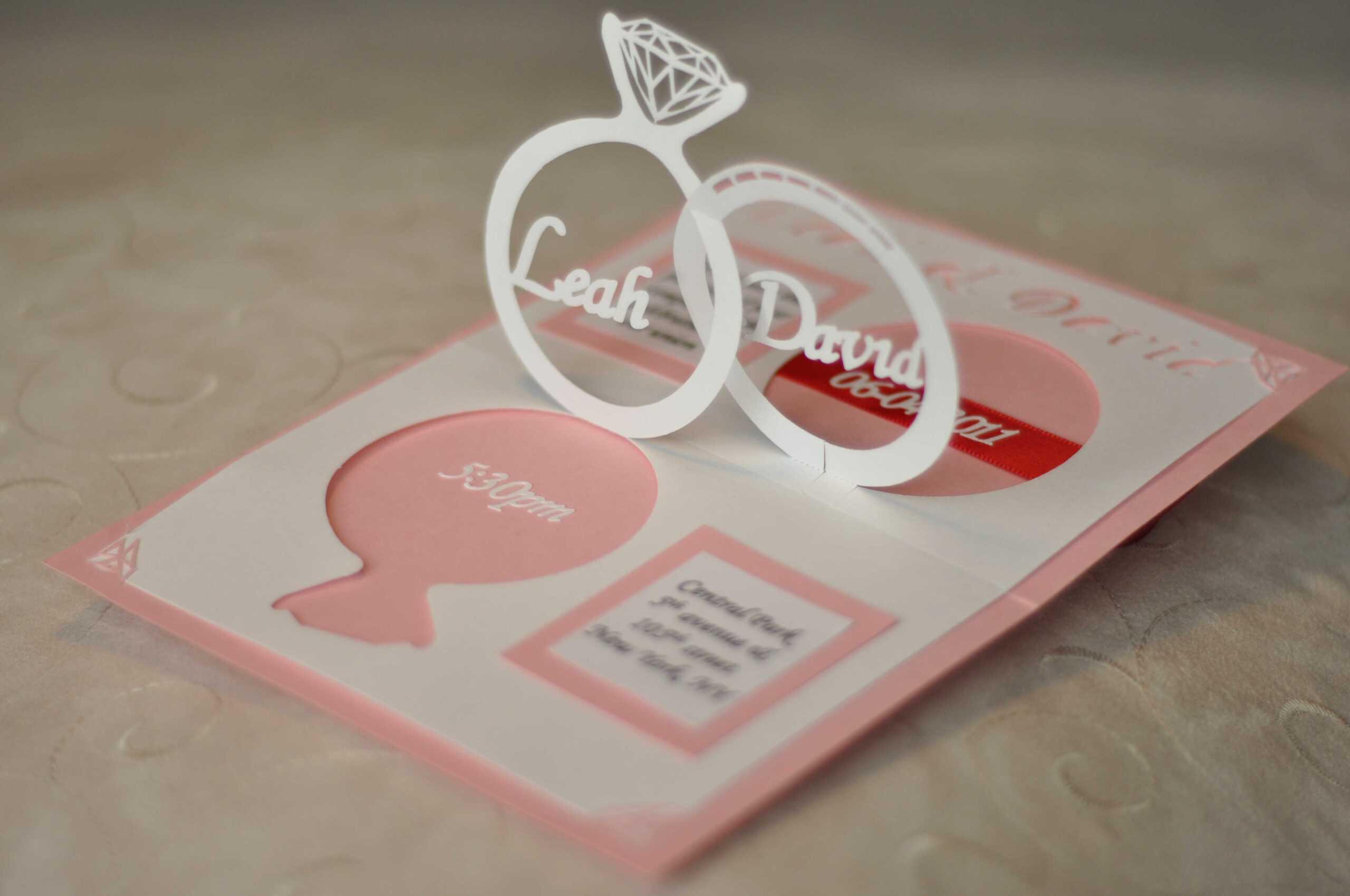Wedding Ring Pop Up Card Template | Wedding Within Wedding Pop Up Card Template Free