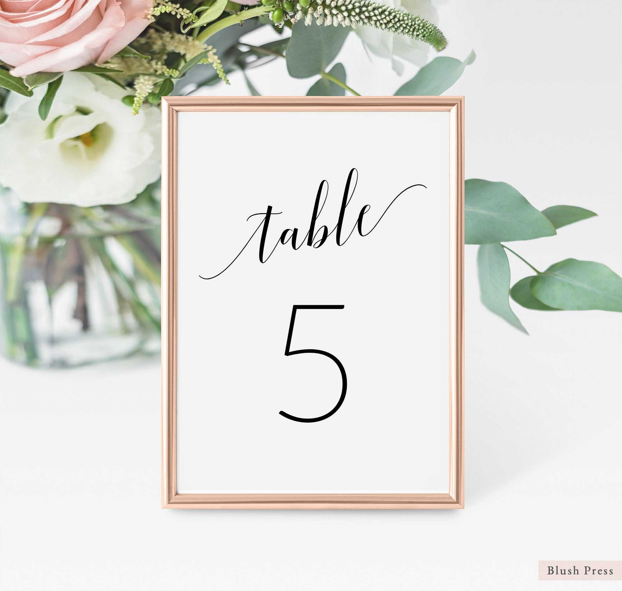 Wedding Table Number Cards Template, Printable Table Numbers Wedding, Table  Seating Card, Table Numbers Printable, Table Card Number Sav 062 Throughout Table Number Cards Template