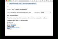 Weekly Project Status Report That Works (+Template inside Project Status Report Email Template