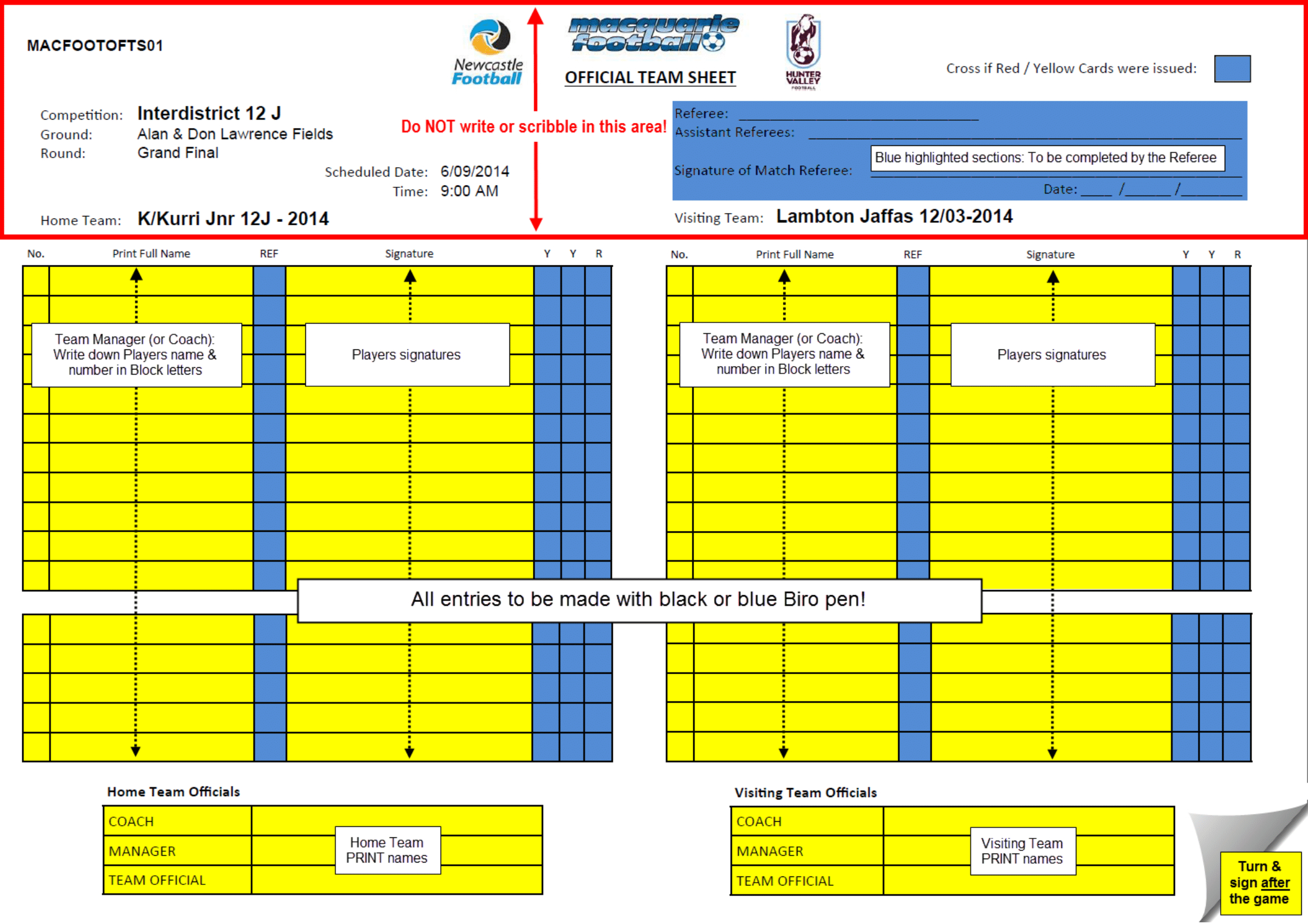 What Do The Referees Write During The Matches? - Sports pertaining to Soccer Referee Game Card Template
