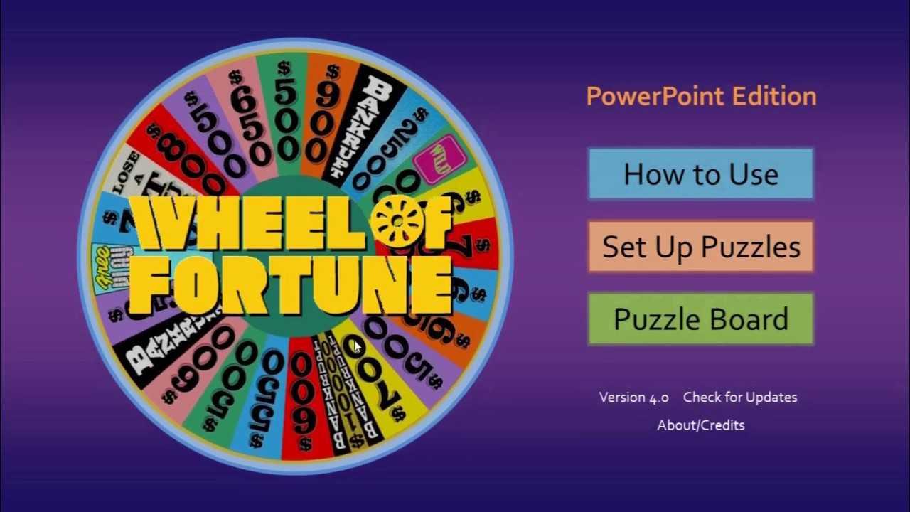 Wheel Of Fortune For Powerpoint - Gamestim regarding Wheel Of Fortune Powerpoint Template