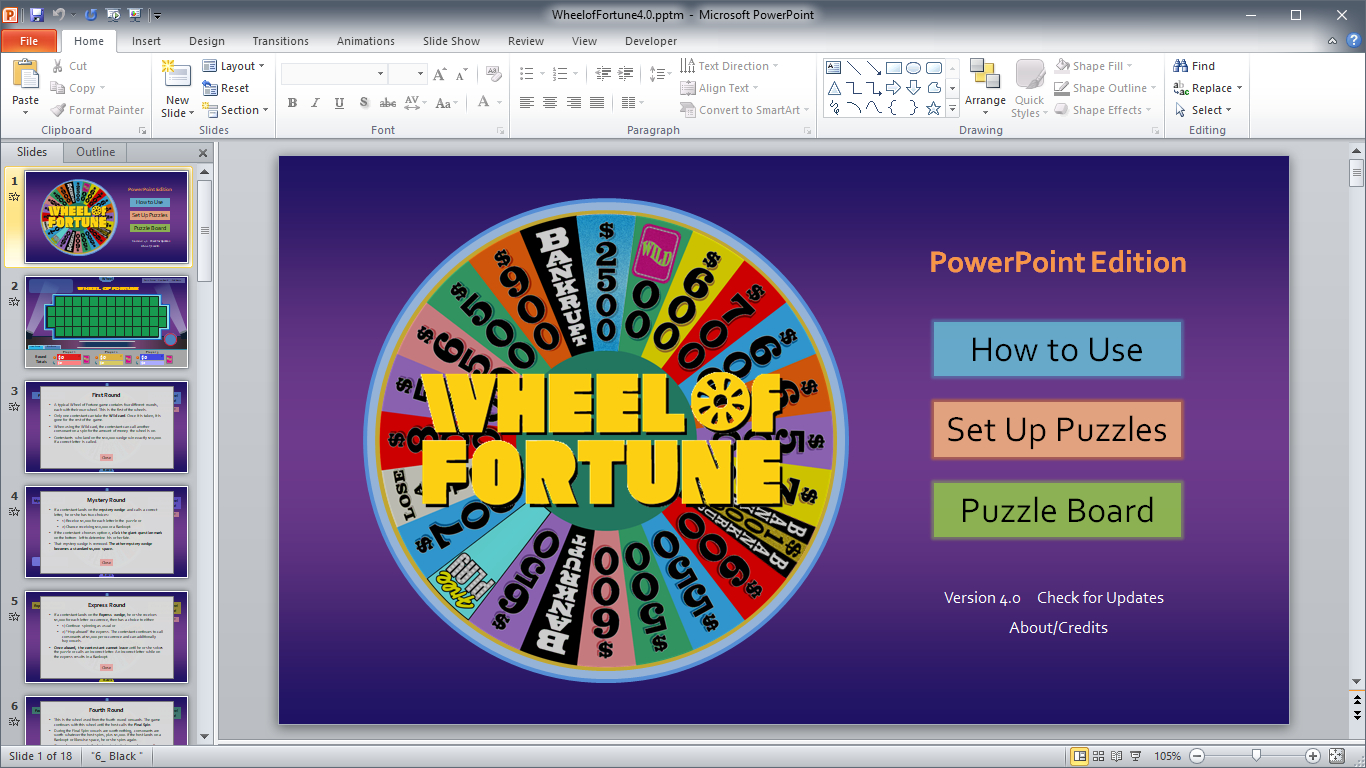 Wheel Of Fortune For Powerpoint - Gamestim within Wheel Of Fortune Powerpoint Template