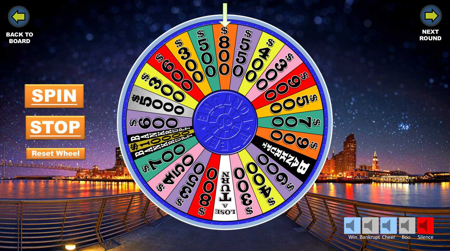 Wheel Of Fortune Powerpoint Game - Youth Downloadsyouth With Regard To Wheel Of Fortune Powerpoint Template