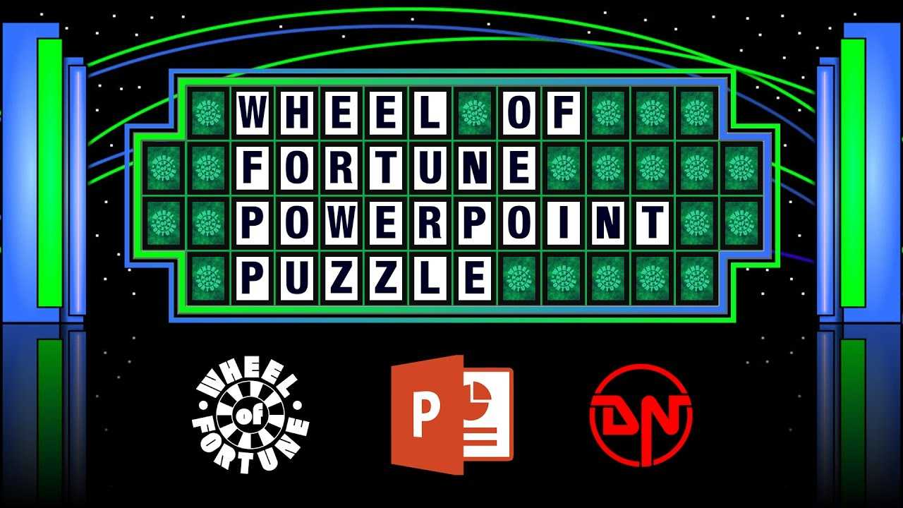 Wheel Of Fortune - Powerpoint Puzzle intended for Wheel Of Fortune Powerpoint Template