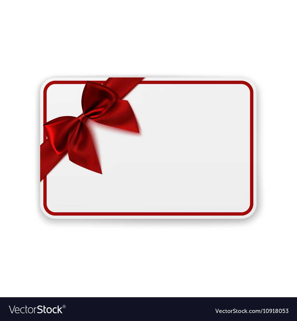 White Blank Gift Card Template Intended For Present Card Template