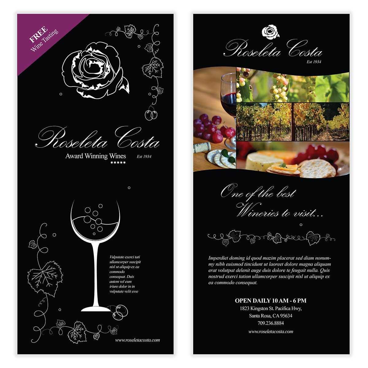 Wine Flyer Template 03   Flyer Template, Templates, Wine with regard to Wine Brochure Template
