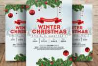 Winter Wonderland Christmas – Psd Flyer Template – Free Psd intended for Christmas Brochure Templates Free