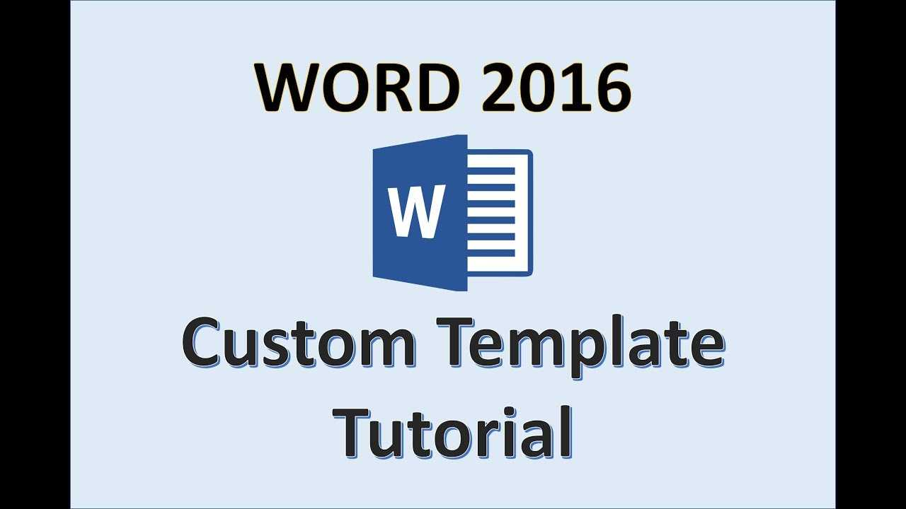 Word 2016 - Creating Templates - How To Create A Template In Ms Office -  Make A Template Tutorial Throughout How To Save A Template In Word