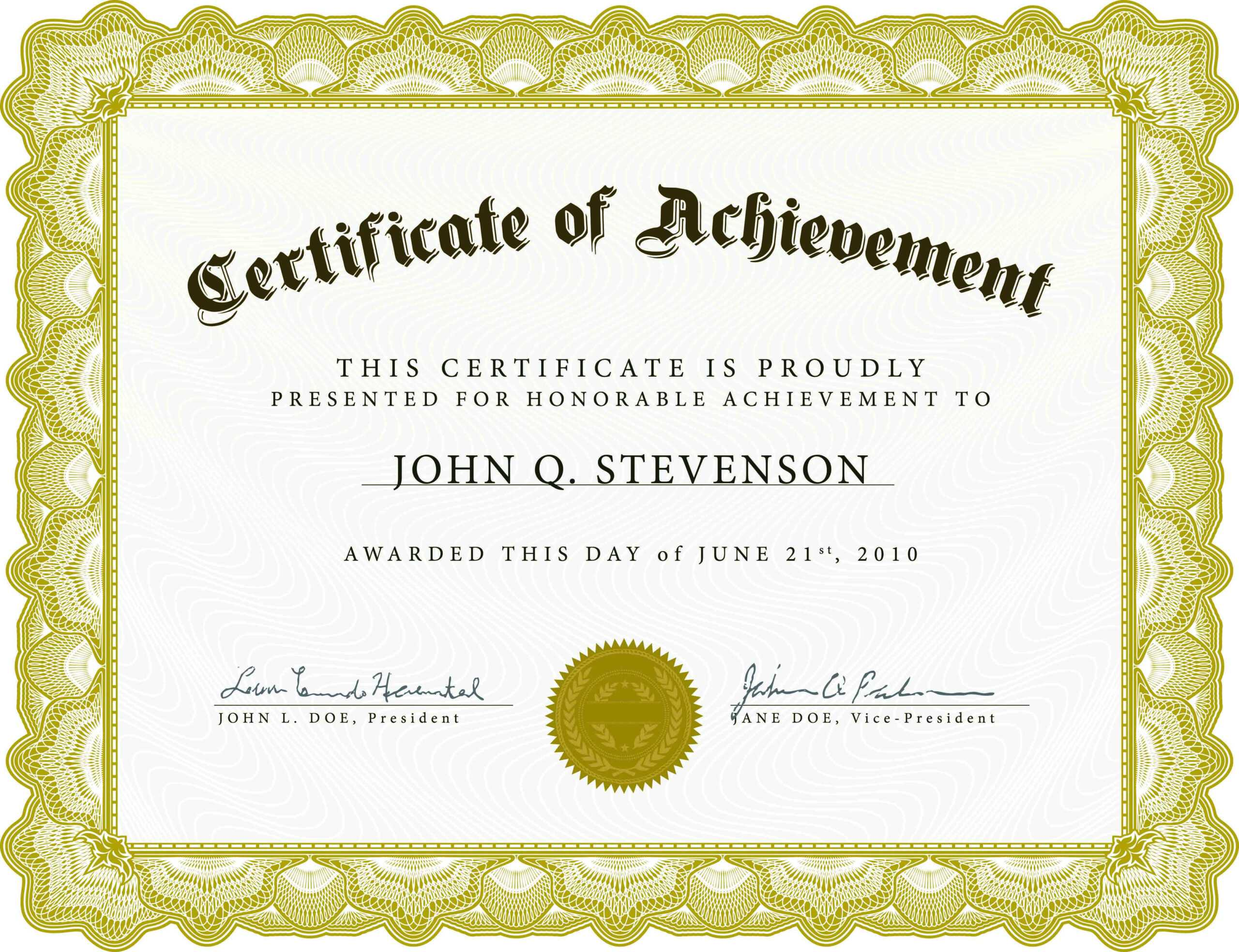 Word Award Template Printable Rental Agreement Lease pertaining to Free Certificate Of Excellence Template
