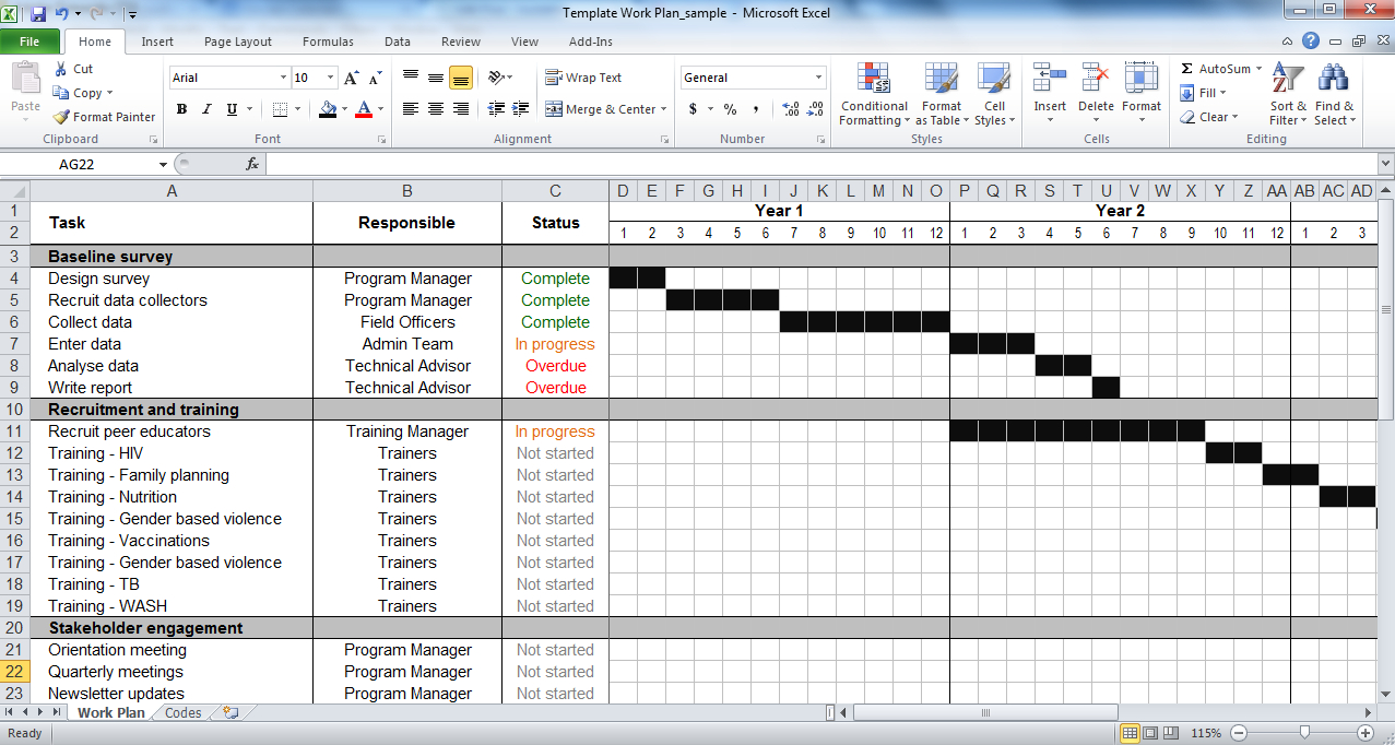 Work Plan Template   Tools4Dev Intended For Work Plan Template Word