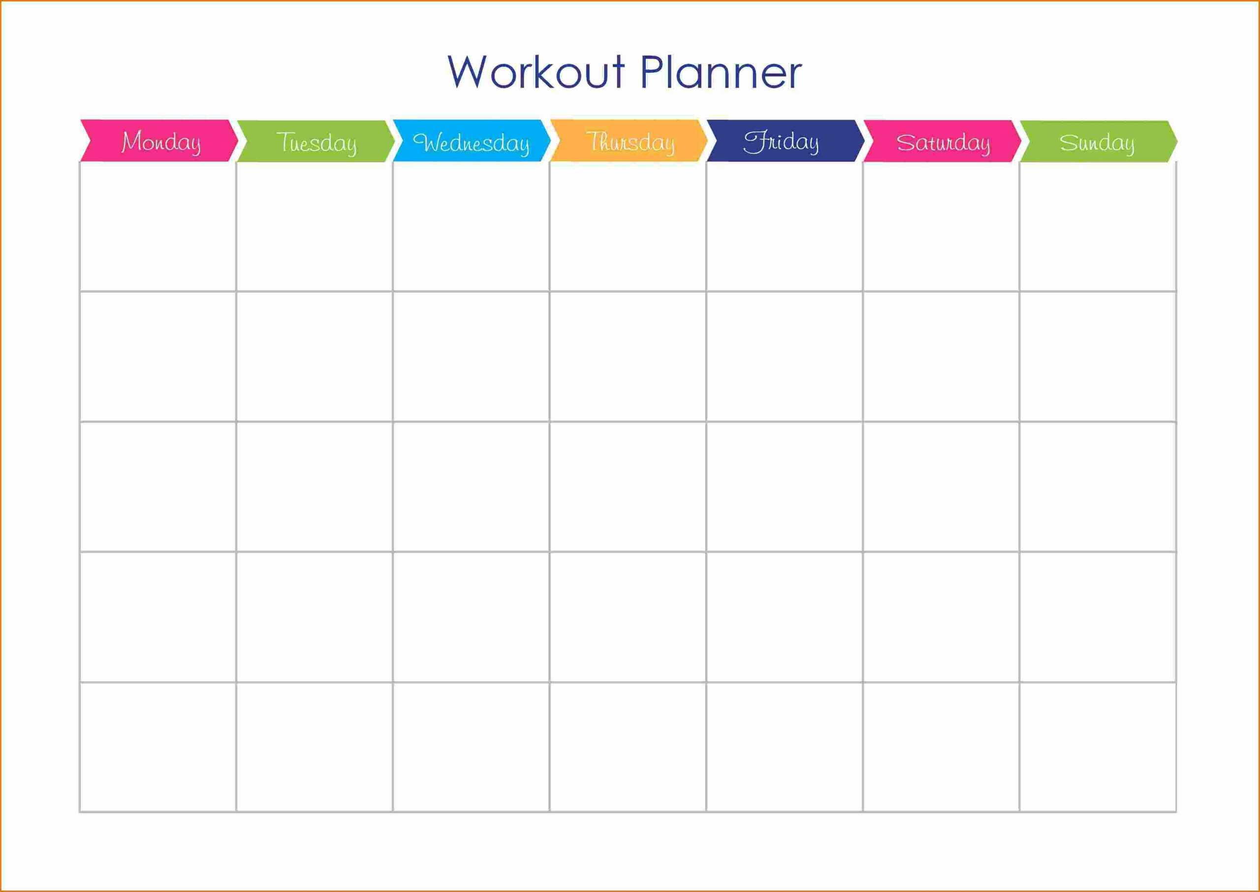 Workout Plan Calendar Template Workout And Yoga Pics Intended For Blank Workout Schedule Template