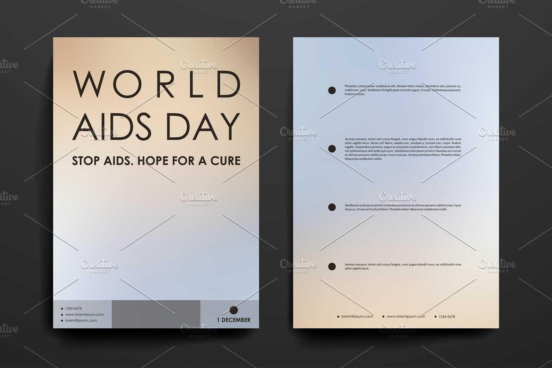 World Aids Day. Brochure Templates #aids#world#day#templates for Hiv Aids Brochure Templates