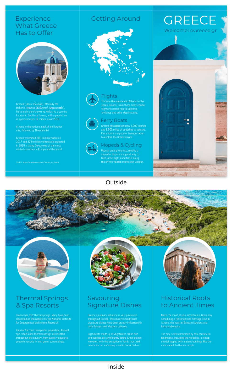 World Travel Tri Fold Brochure Intended For Island Brochure Template