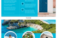 World Travel Tri Fold Brochure with regard to Travel And Tourism Brochure Templates Free