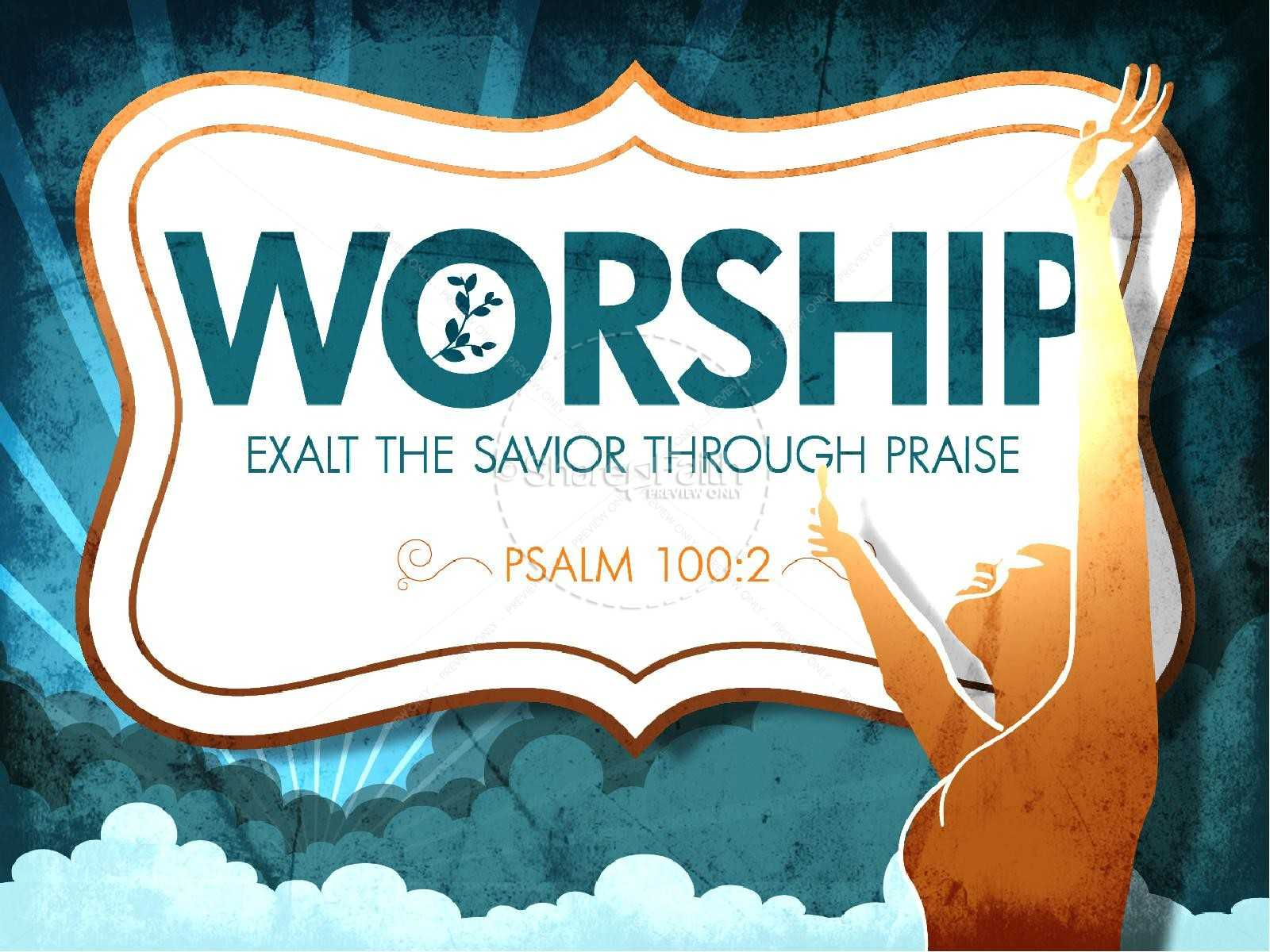 Worship Powerpoint Church Template | Powerpoint Sermons Pertaining To Praise And Worship Powerpoint Templates