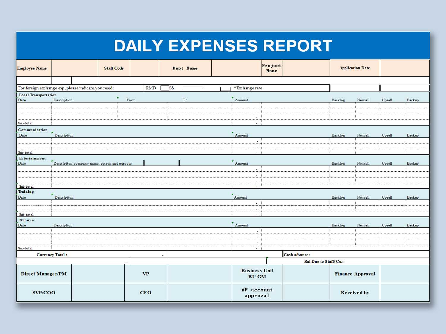 Wps Template - Free Download Writer, Presentation pertaining to Daily Expense Report Template
